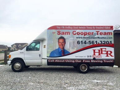 Sam Cooper Realtors Moving Truck